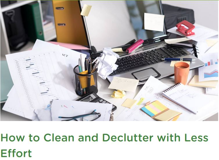 how to clean and declutter
